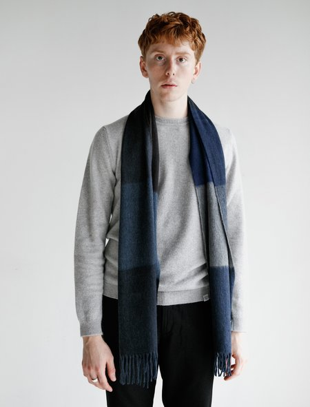 Norse Projects x Begg Scarf - Navy Multi Stripe