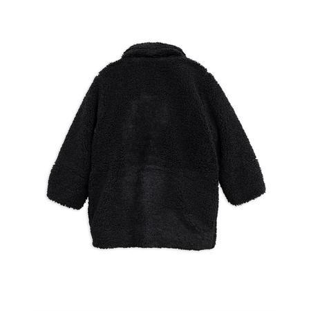 Kids Mini Rodini Faux Fur Jacket - Black