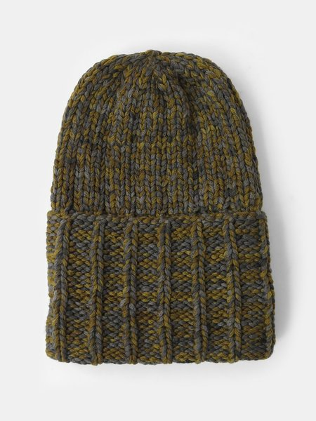 Knitbrary Chunky Beanie - Carpatain/Blue Cotton