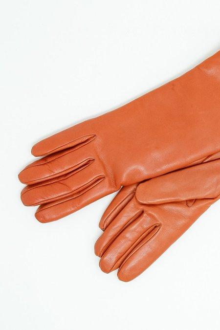 Clyde Lambskin Gloves - Burnt Orange