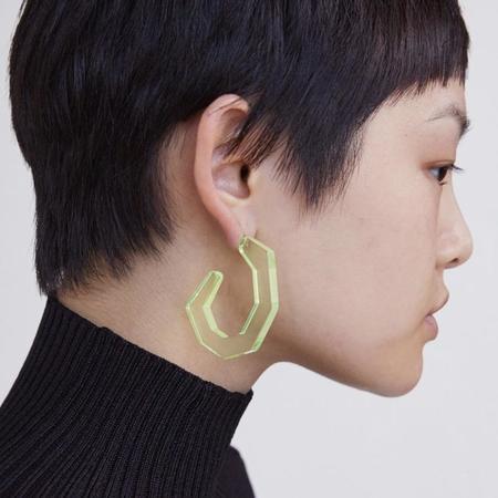 Rachel Comey Baby Factor Earrings - Neon Yellow