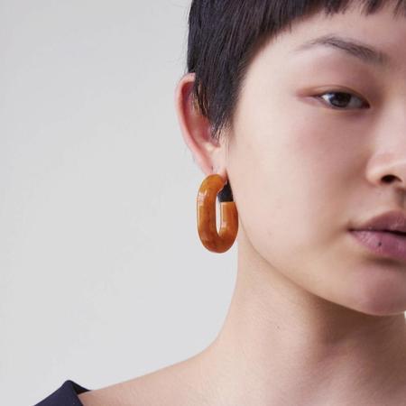 Rachel Comey Small Keeper Earrings - Orange Marble