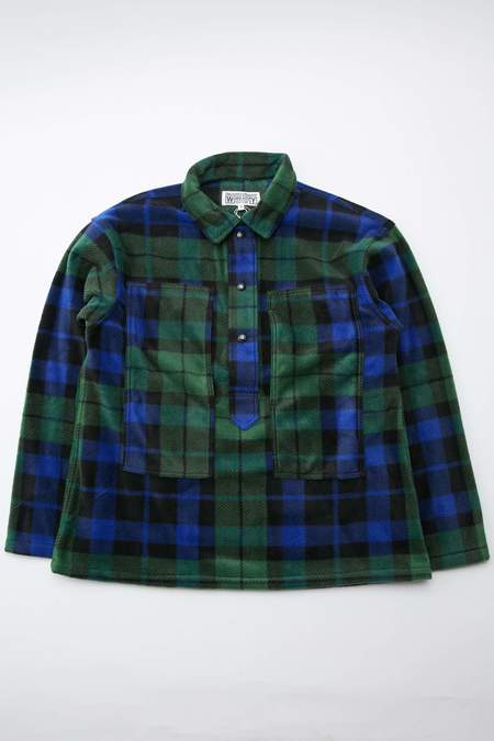Engineered Garments Workaday Polyester Fleece Army Shirt - Blackwatch