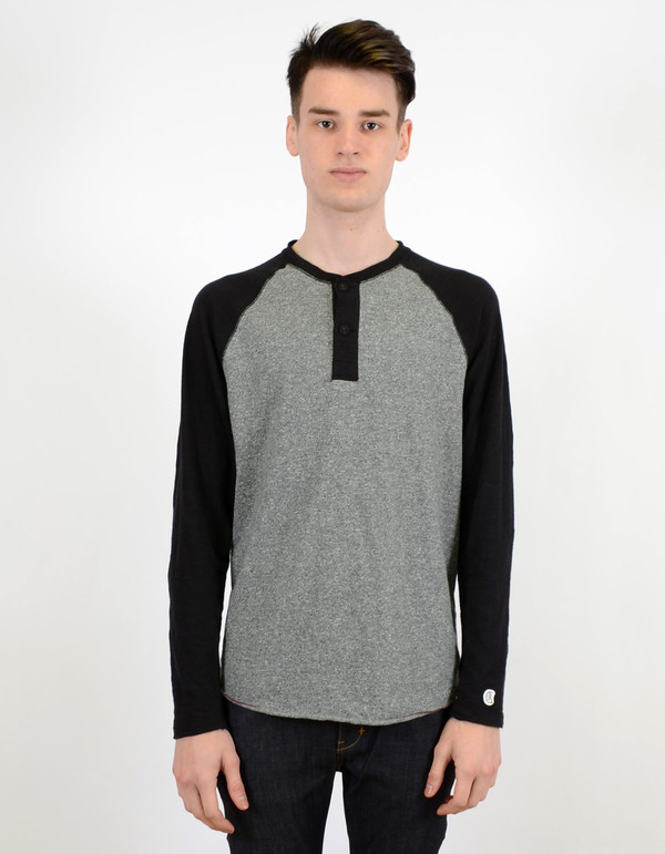 79b1a7d4 Men's Todd Snyder x Champion Colorblock Henley Salt And Pepper | Garmentory