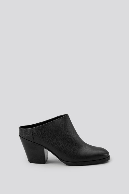 Rachel Comey Pebbled Leather Mars Mule - Black/Black