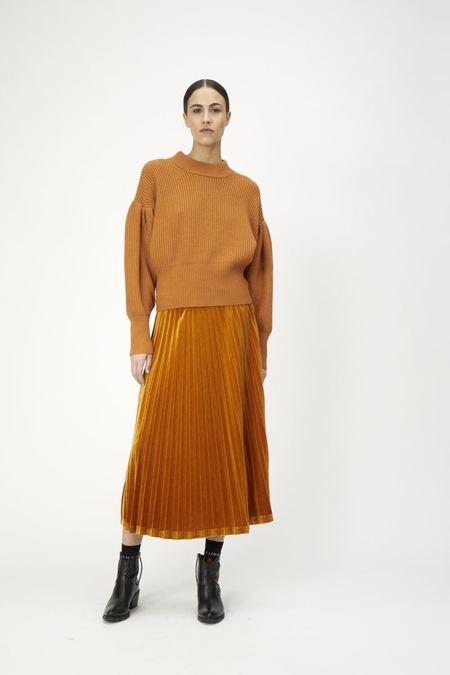 Just Female Clara Velvet Skirt - Pumpkin Spice
