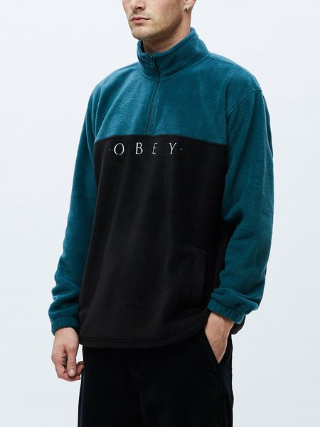 Obey Channel Mock Neck Sweatshirt - Black