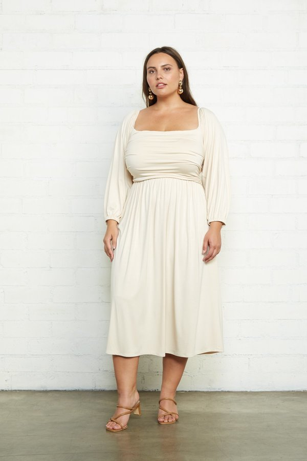 Rachel Pally Dory Plus Size Dress - Cream on Garmentory