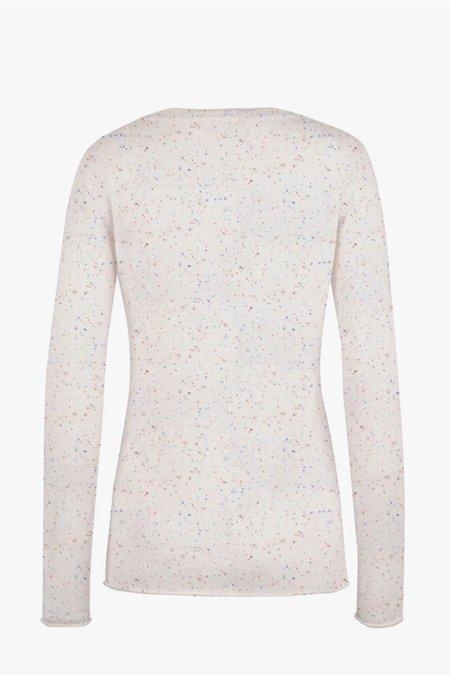 Duffy V-Neck Pullover Cashmere Sweater - Confetti