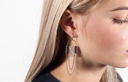 Demimonde Drape Brass Earrings