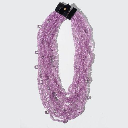 Eva Nueva Multi Strand Amethyst Necklace - Pink