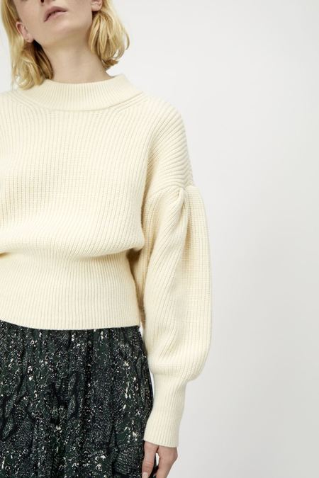 Just Female Sophie High Neck Knit - Antique White