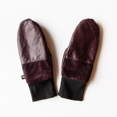 Kazak Lhasa Recycled Leather & Suede Mittens