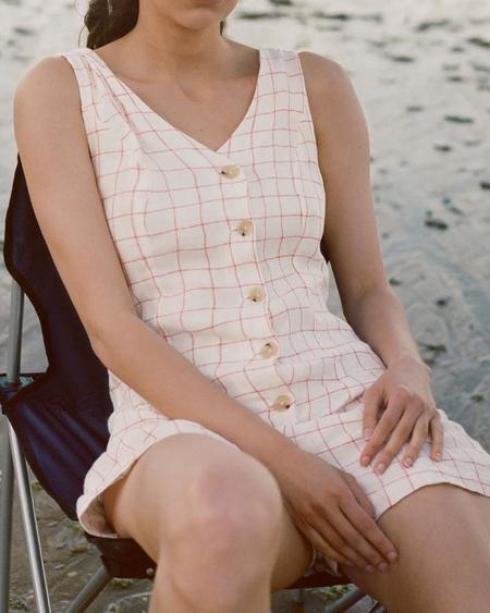 Paloma Wool HAWA ROMPER - PEACH