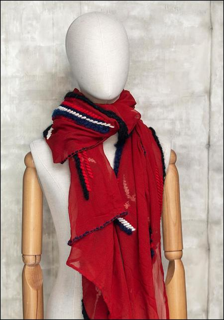 Mii Collection Tartan Check Scarf - Red