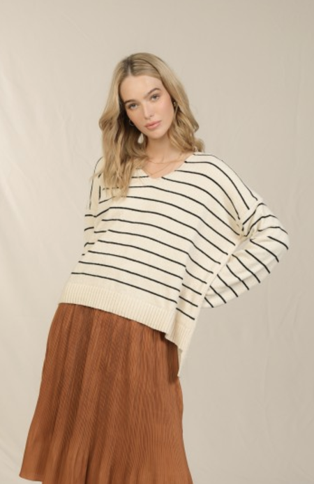 Skies Are Blue Pullover - Stripe