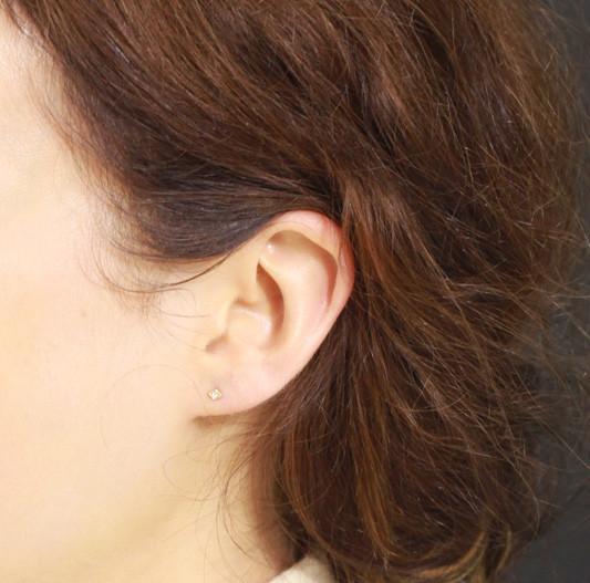 Blanca Monrós Gómez Tiny Diamond Filagree Stud Earrings