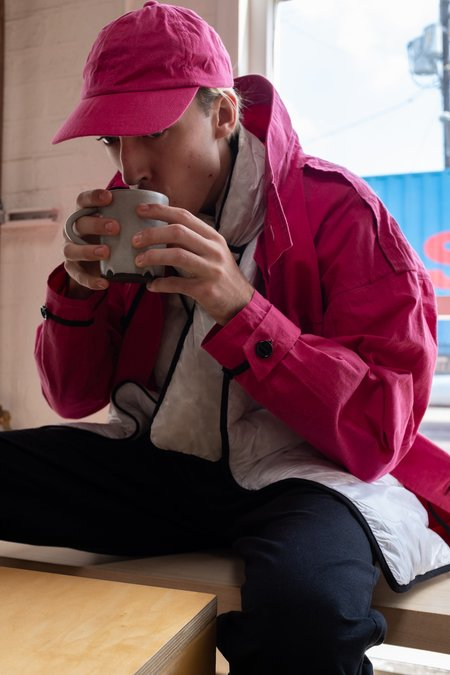 MAN-TLE R7 Riberry Waxed Six Panel Cap 1 - Pink