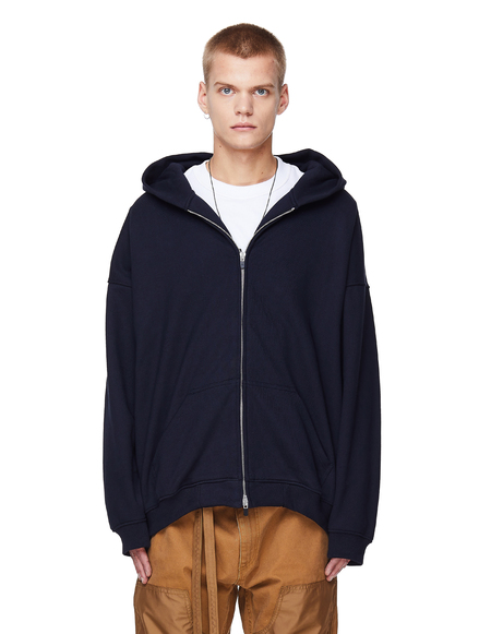 Fear of God Zip-Up Cotton Hoodie - Navy Blue