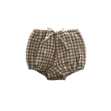 kids Liilu Quilted Bloomer - Brown Check