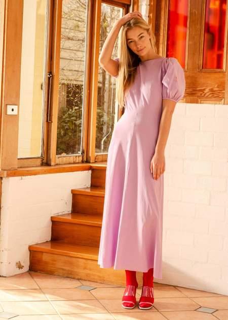 Penny Sage Marianne Dress - Lilac Flower