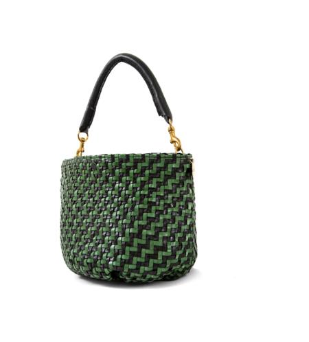 Clare V. Fifi Handbag - Black/Green