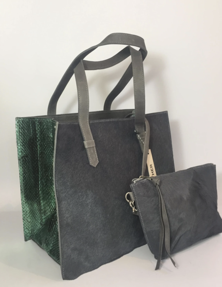Let & Her Fortuny Bag - Metallic Green