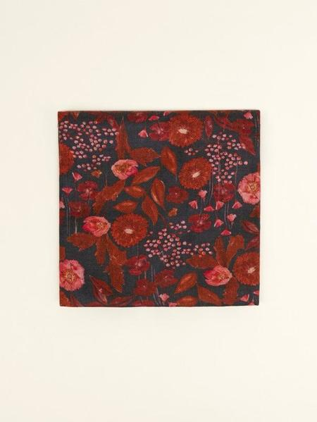Cotélac Wool Scarf - Red Flowers
