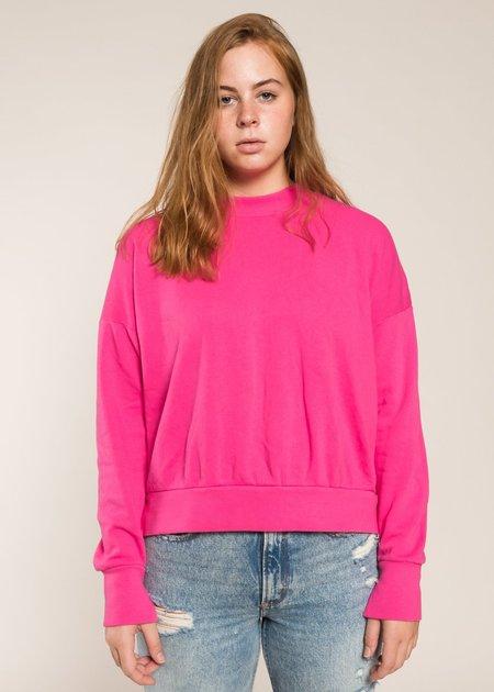 LnA Mock Sweatshirt - Magenta