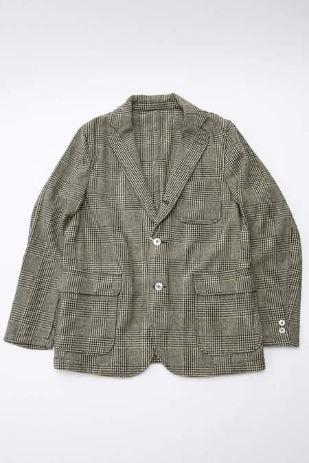 Beams Plus Glen Plaid Shirt Jacket - Natural/Black