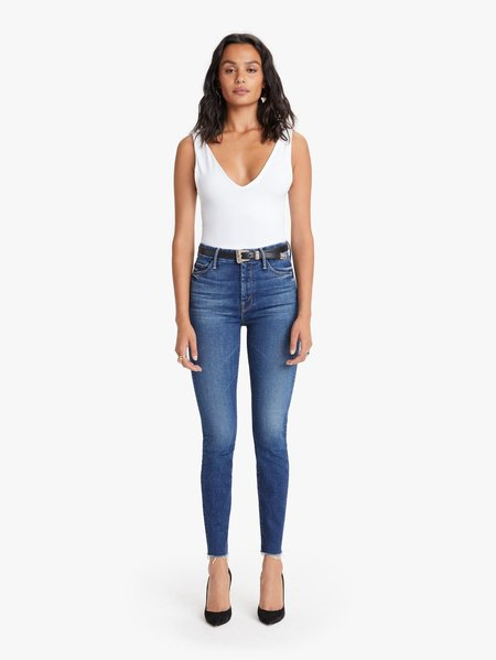 Mother Denim High-Waisted Ankle Fray - Night Clubbing