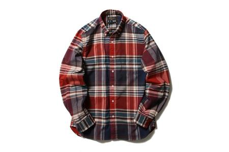 Beams Plus Shaggy Button Down Shirt - Big Check