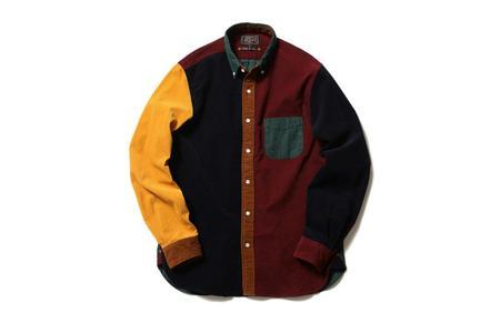Beams Plus Corduroy Button Down Shirt - Crazy Pattern