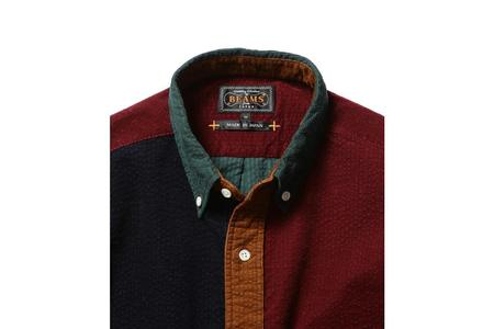 Beams Plus Corduroy Button Down Shirt - Crazy Pattern