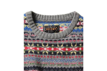 Beams Plus Fair Isle Knit - Crazy Pattern