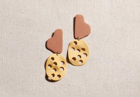 Four Eyes Ceramics Root Earrings