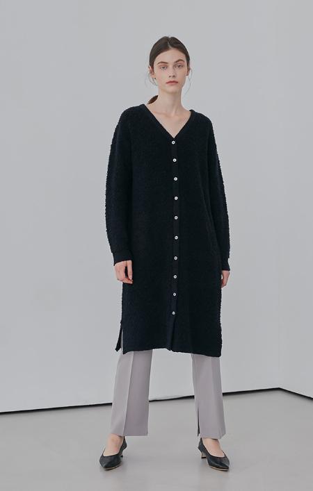 AMONG Boucle Knit Long Cardigan