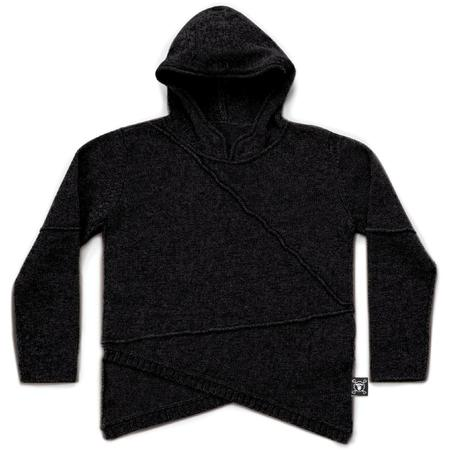 kids nununu hooded sweater - black