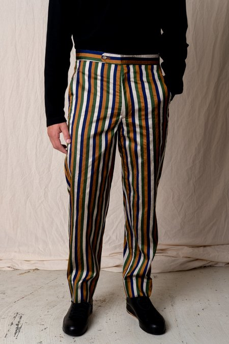 BODE SILK STRIPE TROUSER
