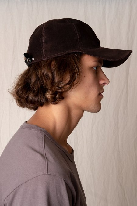 Lady White Co. SUEDE CAP - CHOCOLATE