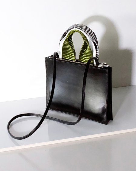 Actually Existing A5 leather bag - Black