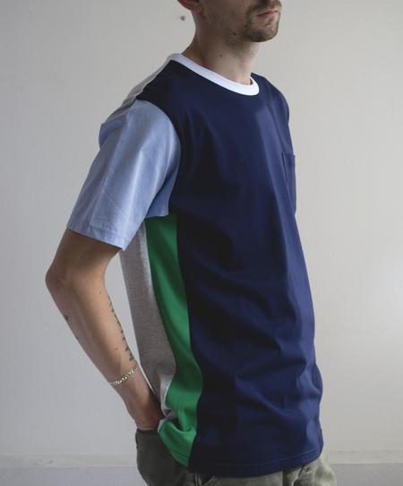 Unisex Aloye Shirt Fabrics Pocket Tee - Navy/Green
