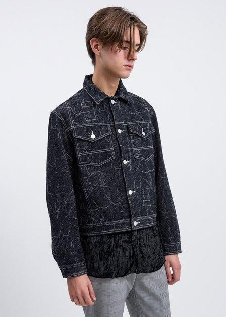 CMMN SWDN Brandon Wool Denim Jacket - Black