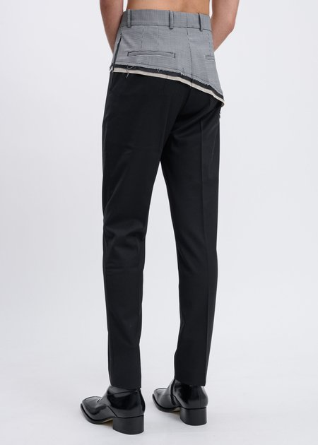 CMMN SWDN  D'angelo Raw Trousers - Black/Houndstooth