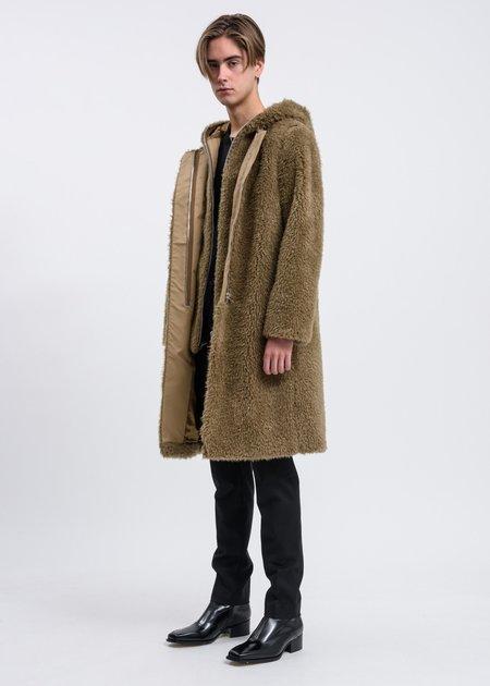 Helmut Lang Detachable Fur Liner Coat - Patina
