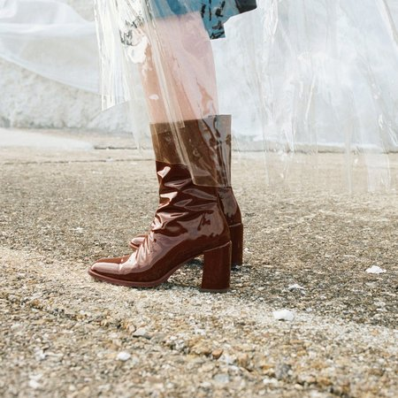 Miista Asta E8 Boot - Brown Patent