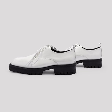 Miista Etta Brogue E8 Oxfords - White Patent