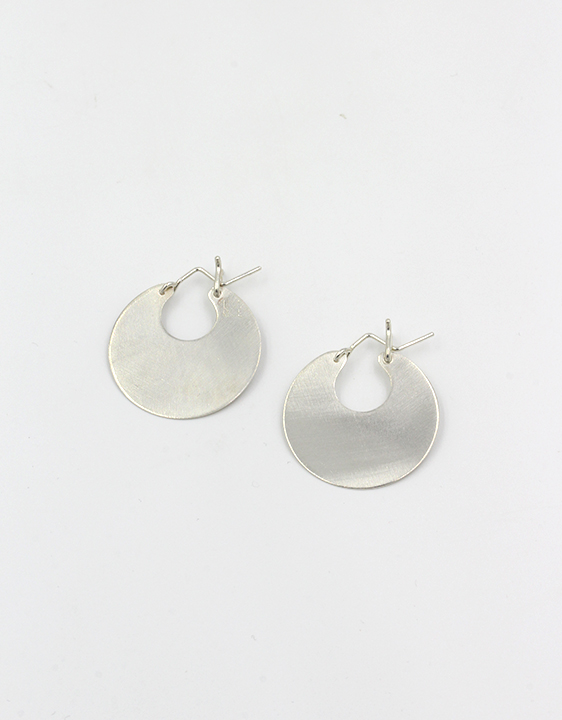 Lila Rice Disc Earrings - Sterling Silver