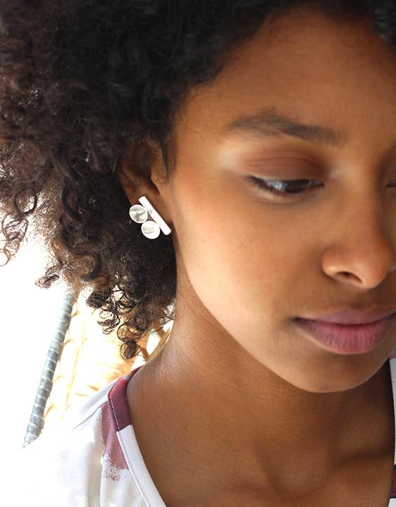 Lila Rice Suneja Earrings - Sterling Silver