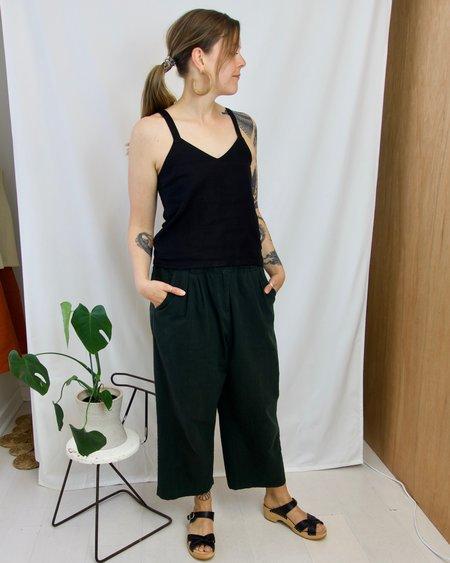 GOOD STUDIOS Hemp Linen Reversible Tank - Black
